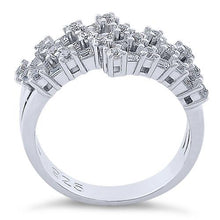 Load image into Gallery viewer, Sterling Silver Round & Emerald Cut Clear CZ Ring
