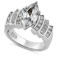 Load image into Gallery viewer, Sterling Silver Royal Marquise Cut Engagement CZ Ring