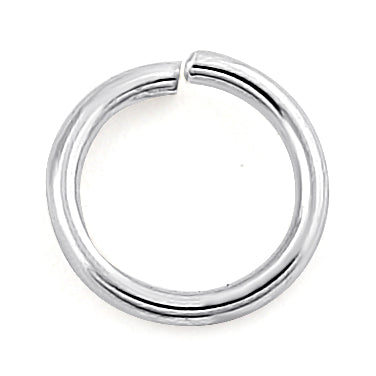 Sterling Silver Semi Hard Jump Ring 6mm - PACK OF 12