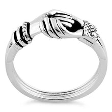 Load image into Gallery viewer, Sterling Silver Shakehands Ring