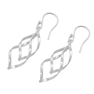 Sterling Silver Simple Dangle Hook Earrings