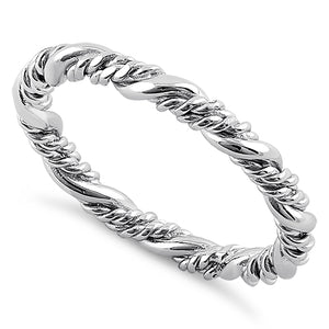 Sterling Silver Rope Twist Ring