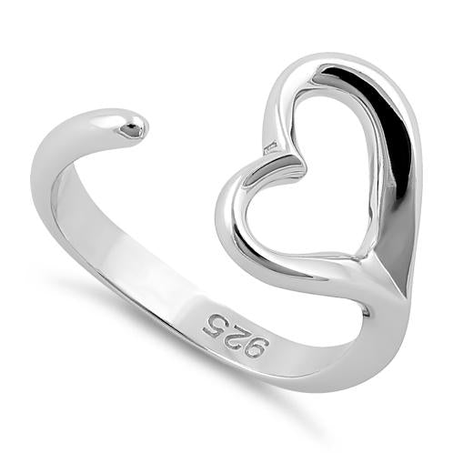 Sterling Silver Single Heart Ring