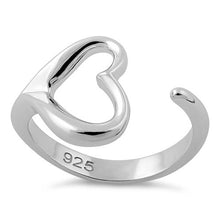 Load image into Gallery viewer, Sterling Silver Single Heart Ring