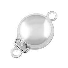 Load image into Gallery viewer, Sterling Silver Single Ring Pearl Clasp 9mm