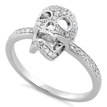 Load image into Gallery viewer, Sterling Silver Skull CZ Ring