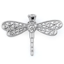Load image into Gallery viewer, Sterling Silver Small Dragonfly Pendant