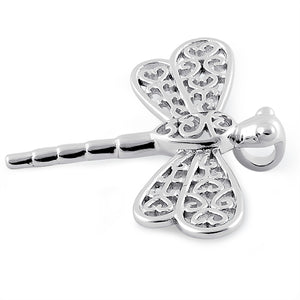 Sterling Silver Small Dragonfly Pendant