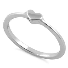 Load image into Gallery viewer, Sterling Silver Small Heart Ring