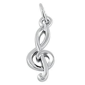 Sterling Silver Small Music Note Pendant