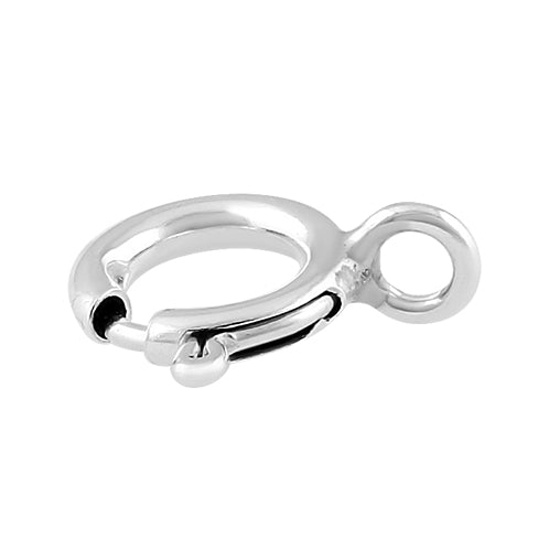 Sterling Silver Spring Ring 7mm - PACK of 10