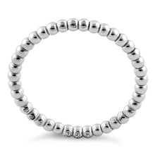 Load image into Gallery viewer, Sterling Silver Stackable Bead Ring