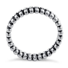Load image into Gallery viewer, Sterling Silver Stackable Double Bead Eternity Ring