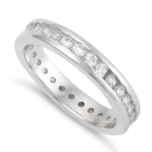Sterling Silver Stackable Eternity CZ Ring