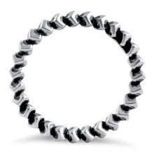 Load image into Gallery viewer, Sterling Silver Stackable Revolving Cube Eternity Ring