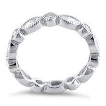 Load image into Gallery viewer, Sterling Silver Round & Marquise Clear CZ Eternity Ring