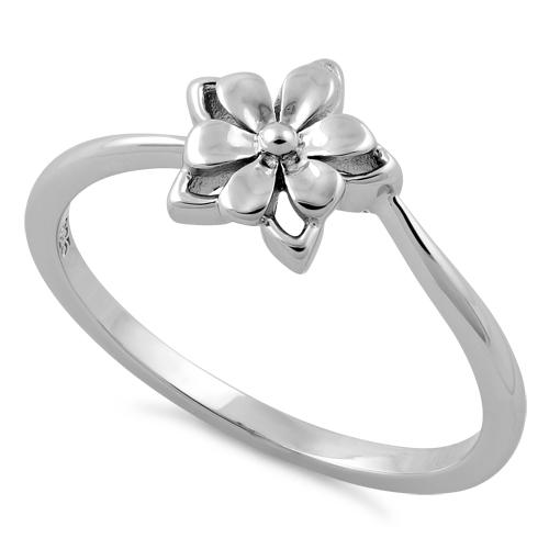 Sterling Silver Star Flower Ring