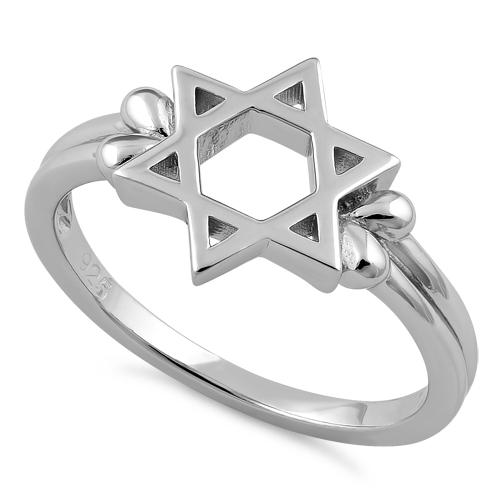 Sterling Silver Star of David Ring