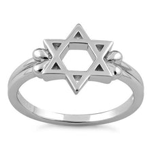 Load image into Gallery viewer, Sterling Silver Star of David Ring