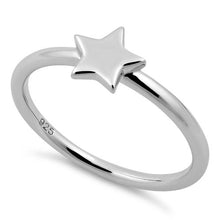 Load image into Gallery viewer, Sterling Silver Star Ring