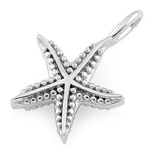 Load image into Gallery viewer, Silver Starfish Pendant