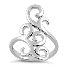 Load image into Gallery viewer, Sterling Silver Strikng Curls Ring