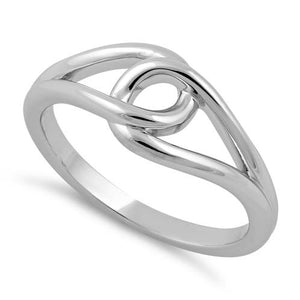 Sterling Silver String Knot Ring