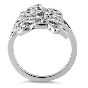 Sterling Silver Summer Flowers Ring