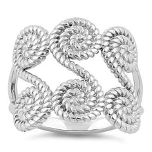 Load image into Gallery viewer, Sterling Silver Sweet Rope Swirls Ring
