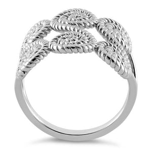 Sterling Silver Sweet Rope Swirls Ring