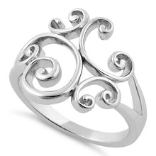Load image into Gallery viewer, Sterling Silver Swirl Ring