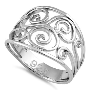 Sterling Silver Swirl Ring