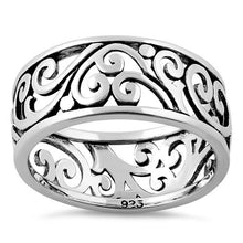 Load image into Gallery viewer, Sterling Silver Swirls Band Ring