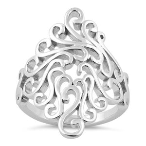 Sterling Silver Swirls Ring