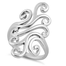 Load image into Gallery viewer, Sterling Silver Swirly Wind Ring