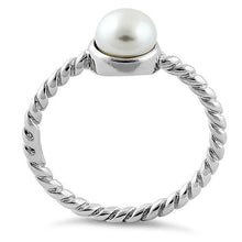 Load image into Gallery viewer, Sterling Silver Synthetic Pearl Rope Ring