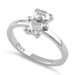 Sterling Silver Teddy Bear Ring