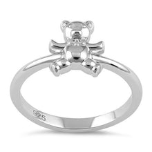 Load image into Gallery viewer, Sterling Silver Teddy Bear with Tie Ring