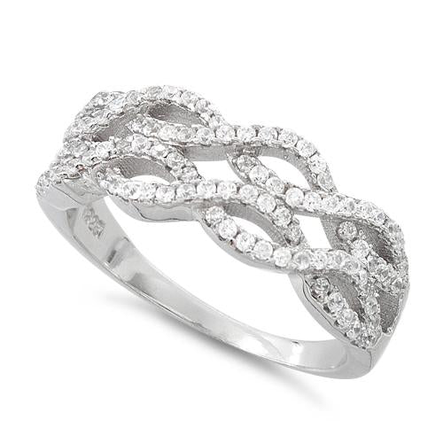 Sterling Silver The Wave CZ Ring