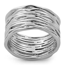 Load image into Gallery viewer, Sterling Silver Thick Woven Basket Ring