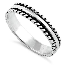 Load image into Gallery viewer, Sterling Silver Thin Double Rope Ring