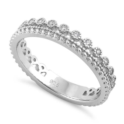 Sterling Silver Thin Elegant CZ Ring