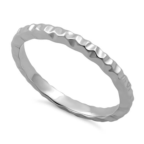 Sterling Silver Thin Hammered Ring