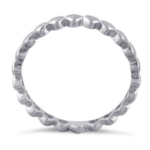 Sterling Silver Tiny Hearts Eternity Ring