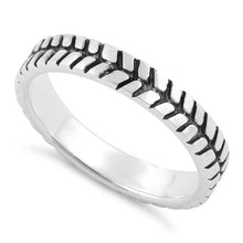 Load image into Gallery viewer, Sterling Silver Tire Band Ring