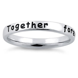 "Sterling Silver ""Together forever, never apart"" Ring"