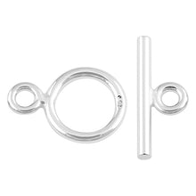 Load image into Gallery viewer, Sterling Silver Toggle Clasp 8mm - PACK OF 2 PAIRS