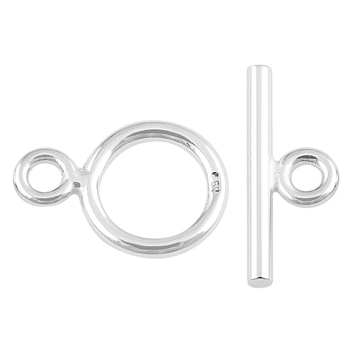 Sterling Silver Toggle Clasp 8mm - PACK OF 2 PAIRS