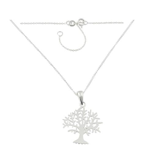 "Sterling Silver Tree of Life 17"" Necklace"