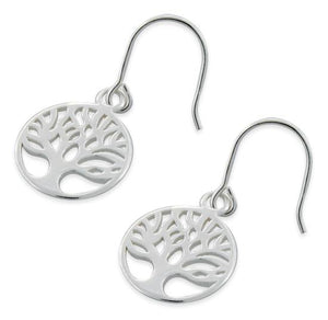 Sterling Silver Tree of Life Hook Earrings